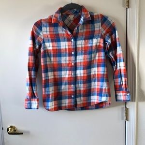 J Crew Plaid Button down Shirt size S. Gently Used